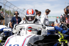 Circuit Gilles-Villeneuve, Montreal, CanadaSunday 10 June 2018.Lance Stroll, Williams Racing, arrives on the grid.Photo: Zak Mauger/Williams F1ref: Digital Image _54I2743