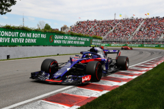 MONTREAL, QC - JUNE 10: Pierre Gasly of France and Scuderia Toro Rosso driving the (10) Scuderia Toro Rosso STR13 Honda on track during the Canadian Formula One Grand Prix at Circuit Gilles Villeneuve on June 10, 2018 in Montreal, Canada.  (Photo by Mark Thompson/Getty Images) // Getty Images / Red Bull Content Pool  // AP-1VXE8BKVH2111 // Usage for editorial use only // Please go to www.redbullcontentpool.com for further information. //