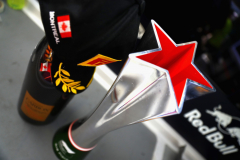 MONTREAL, QC - JUNE 10: The third place trophy of Max Verstappen of Netherlands and Red Bull Racing is seen in the Red Bull Racing garage after the Canadian Formula One Grand Prix at Circuit Gilles Villeneuve on June 10, 2018 in Montreal, Canada.  (Photo by Mark Thompson/Getty Images) // Getty Images / Red Bull Content Pool  // AP-1VXFY9BSD2111 // Usage for editorial use only // Please go to www.redbullcontentpool.com for further information. //