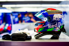 MONTREAL, QC - JUNE 08:  Brendon Hartley' Crash Helmet of Scuderia Toro Rosso and New Zealand during practice for the Canadian Formula One Grand Prix at Circuit Gilles Villeneuve on June 8, 2018 in Montreal, Canada.  (Photo by Peter Fox/Getty Images) // Getty Images / Red Bull Content Pool  // AP-1VWTJEZ4W2111 // Usage for editorial use only // Please go to www.redbullcontentpool.com for further information. //
