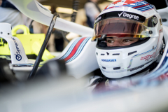 Circuit Gilles-Villeneuve, Montreal, CanadaFriday 8 June 2018.Lance Stroll, Williams Racing, in his cockpit.Photo: Glenn Dunbar/Williams F1ref: Digital Image DSC07047