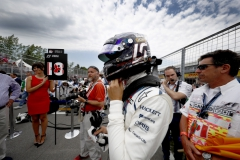 Circuit Gilles Villeneuve, Montreal, Canada.Sunday 11 June 2017.Lance Stroll, Williams Martini Racing, on the grid.Photo: Glenn Dunbar/Williamsref: Digital Image WX4I8359