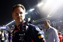 SINGAPORE, SINGAPORE - SEPTEMBER 22: Red Bull Racing Team Principal Christian Horner looks on, on the grid before the F1 Grand Prix of Singapore at Marina Bay Street Circuit on September 22, 2019 in Singapore. (Photo by Mark Thompson/Getty Images) // Getty Images / Red Bull Content Pool  // AP-21NAGZZK11W11 // Usage for editorial use only //