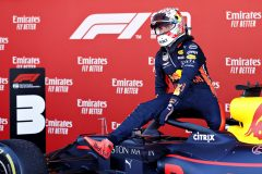 BARCELONA, SPAIN - MAY 12: Third place finisher Max Verstappen of Netherlands and Red Bull Racing celebrates in parc ferme during the F1 Grand Prix of Spain at Circuit de Barcelona-Catalunya on May 12, 2019 in Barcelona, Spain. (Photo by Will Taylor-Medhurst/Getty Images) // Getty Images / Red Bull Content Pool  // AP-1ZAHG4EX11W11 // Usage for editorial use only // Please go to www.redbullcontentpool.com for further information. //