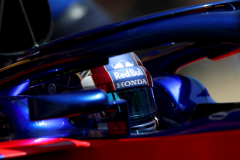 MONTMELO, SPAIN - MAY 11:  Pierre Gasly of France and Scuderia Toro Rosso driving the (10) Scuderia Toro Rosso STR13 Honda leaves the garage during practice for the Spanish Formula One Grand Prix at Circuit de Catalunya on May 11, 2018 in Montmelo, Spain.  (Photo by Dan Istitene/Getty Images) // Getty Images / Red Bull Content Pool  // AP-1VMP3SD152111 // Usage for editorial use only // Please go to www.redbullcontentpool.com for further information. //