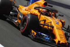 Circuit de Barcelona-Catalunya, Spain.Friday, 11 May 2018. Stoffel Vandoorne, McLaren MCL33 Renault.Copyright: Steven Tee/McLaren_1ST0363