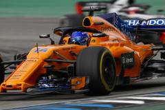 Hockenheimring, Hockenheim, GermanySunday 22 July 2018.Fernando Alonso, McLaren MCL33 Renault.Photo: Zak Mauger/McLarenref: Digital Image _54I7252-2