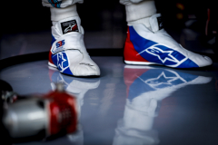 Hockenheimring, Hockenheim, GermanyFriday 20 July 2018.The boots of Sergey Sirotkin, Williams Racing.Photo: Glenn Dunbar/Williams F1ref: Digital Image _X4I1793