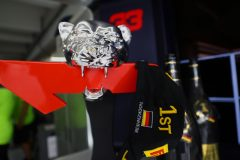 HOCKENHEIM, GERMANY - JULY 28: The race winners trophy of Max Verstappen of Netherlands and Red Bull Racing is seen in the garage after the F1 Grand Prix of Germany at Hockenheimring on July 28, 2019 in Hockenheim, Germany. (Photo by Mark Thompson/Getty Images) // Getty Images / Red Bull Content Pool  // AP-213AWJUW52511 // Usage for editorial use only // Please go to www.redbullcontentpool.com for further information. //