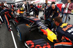 HOCKENHEIM, GERMANY - JULY 28: Pierre Gasly of France and Red Bull Racing prepares to drive on the grid before the F1 Grand Prix of Germany at Hockenheimring on July 28, 2019 in Hockenheim, Germany. (Photo by Mark Thompson/Getty Images) // Getty Images / Red Bull Content Pool  // AP-213A3W4K12511 // Usage for editorial use only // Please go to www.redbullcontentpool.com for further information. //