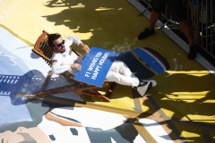 Hungaroring, Budapest, Hungary. .Sunday 30 July 2017.Fernando Alonso, McLaren, relaxes in a deck chair in parc ferme after finishing sixth.Photo: Andrew Hone/McLarenref: Digital Image _ONZ1083