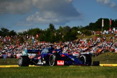 BUDAPEST, HUNGARY - AUGUST 04: Daniil Kvyat driving the (26) Scuderia Toro Rosso STR14 Honda on track during the F1 Grand Prix of Hungary at Hungaroring on August 04, 2019 in Budapest, Hungary. (Photo by Dan Mullan/Getty Images) // Getty Images / Red Bull Content Pool  // AP-215J3C58H1W11 // Usage for editorial use only // Please go to www.redbullcontentpool.com for further information. //