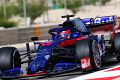 BAHRAIN, BAHRAIN - MARCH 30: Daniil Kvyat driving the (26) Scuderia Toro Rosso STR14 Honda on track during final practice for the F1 Grand Prix of Bahrain at Bahrain International Circuit on March 30, 2019 in Bahrain, Bahrain. (Photo by Peter Fox/Getty Images) // Getty Images / Red Bull Content Pool  // AP-1YVMZY45D1W11 // Usage for editorial use only // Please go to www.redbullcontentpool.com for further information. //