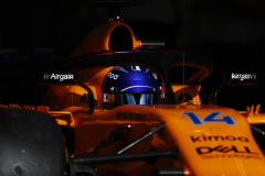 Bahrain International Circuit, Sakhir, Bahrain.Saturday 7 April 2018.Fernando Alonso, McLaren MCL33 Renault. Photo: Glenn Dunbar/McLarenref: Digital Image _31I3834