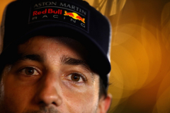 BAHRAIN, BAHRAIN - APRIL 07:  Daniel Ricciardo of Australia and Red Bull Racing looks on in the Paddock after qualifying for the Bahrain Formula One Grand Prix at Bahrain International Circuit on April 7, 2018 in Bahrain, Bahrain.  (Photo by Clive Mason/Getty Images) // Getty Images / Red Bull Content Pool  // AP-1V9TANDWW2111 // Usage for editorial use only // Please go to www.redbullcontentpool.com for further information. //