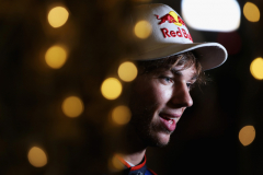 BAHRAIN, BAHRAIN - APRIL 07:  Pierre Gasly of France and Scuderia Toro Rosso talks to the media in the Paddock after qualifying for the Bahrain Formula One Grand Prix at Bahrain International Circuit on April 7, 2018 in Bahrain, Bahrain.  (Photo by Charles Coates/Getty Images) // Getty Images / Red Bull Content Pool  // AP-1V9TNKTNH2111 // Usage for editorial use only // Please go to www.redbullcontentpool.com for further information. //
