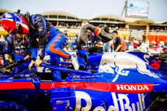 BAHRAIN, BAHRAIN - MARCH 31: Daniil Kvyat of Scuderia Toro Rosso and Russia during the F1 Grand Prix of Bahrain at Bahrain International Circuit on March 31, 2019 in Bahrain, Bahrain. (Photo by Peter Fox/Getty Images) // Getty Images / Red Bull Content Pool  // AP-1YW1N5RUS2111 // Usage for editorial use only // Please go to www.redbullcontentpool.com for further information. //