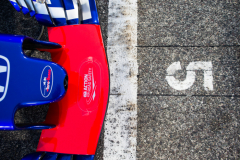BAHRAIN, BAHRAIN - APRIL 08: Scuderia Toro Rosso 5th on the grid during the Bahrain Formula One Grand Prix at Bahrain International Circuit on April 8, 2018 in Bahrain, Bahrain.  (Photo by Peter Fox/Getty Images) // Getty Images / Red Bull Content Pool  // AP-1VA4Z47N92111 // Usage for editorial use only // Please go to www.redbullcontentpool.com for further information. //
