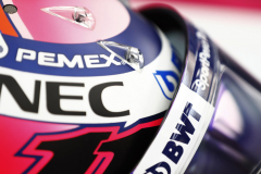 The helmet of Sergio Perez, Racing Point