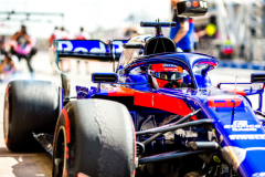 BAHRAIN, BAHRAIN - MARCH 29: Daniil Kvyat driving the (26) Scuderia Toro Rosso STR14 Honda in the Pitlane during practice for the F1 Grand Prix of Bahrain at Bahrain International Circuit on March 29, 2019 in Bahrain, Bahrain. (Photo by Peter Fox/Getty Images) // Getty Images / Red Bull Content Pool  // AP-1YVBQWQFS2111 // Usage for editorial use only // Please go to www.redbullcontentpool.com for further information. //