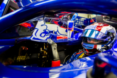 BAHRAIN, BAHRAIN - APRIL 06:  Pierre Gasly of Scuderia Toro Rosso and France  during practice for the Bahrain Formula One Grand Prix at Bahrain International Circuit on April 6, 2018 in Bahrain, Bahrain.  (Photo by Peter Fox/Getty Images) // Getty Images / Red Bull Content Pool  // AP-1V9EBFM911W11 // Usage for editorial use only // Please go to www.redbullcontentpool.com for further information. //