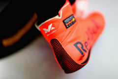 BAHRAIN, BAHRAIN - APRIL 06:  Max Verstappen of Netherlands and Red Bull Racing branding on his racing boots during practice for the Bahrain Formula One Grand Prix at Bahrain International Circuit on April 6, 2018 in Bahrain, Bahrain.  (Photo by Mark Thompson/Getty Images) // Getty Images / Red Bull Content Pool  // AP-1V9EC9GHW2111 // Usage for editorial use only // Please go to www.redbullcontentpool.com for further information. //