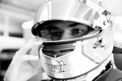 LE CASTELLET, FRANCE - JUNE 22: (EDITORS NOTE: Image has been converted to black and white.) Pierre Gasly of France and Red Bull Racing prepares to drive in the garage during final practice for the F1 Grand Prix of France at Circuit Paul Ricard on June 22, 2019 in Le Castellet, France. (Photo by Dan Istitene/Getty Images) // Getty Images / Red Bull Content Pool  // AP-1ZQR3UVH12511 // Usage for editorial use only // Please go to www.redbullcontentpool.com for further information. //