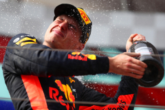 LE CASTELLET, FRANCE - JUNE 24:  Second place finisher Max Verstappen of Netherlands and Red Bull Racing celebrates on the podium  during the Formula One Grand Prix of France at Circuit Paul Ricard on June 24, 2018 in Le Castellet, France.  (Photo by Dan Istitene/Getty Images) // Getty Images / Red Bull Content Pool  // AP-1W2WPTXK92111 // Usage for editorial use only // Please go to www.redbullcontentpool.com for further information. //