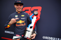 LE CASTELLET, FRANCE - JUNE 24:  Second place finisher Max Verstappen of Netherlands and Red Bull Racing celebrates with his trophy after the Formula One Grand Prix of France at Circuit Paul Ricard on June 24, 2018 in Le Castellet, France.  (Photo by Mark Thompson/Getty Images) // Getty Images / Red Bull Content Pool  // AP-1W2WTYERH1W11 // Usage for editorial use only // Please go to www.redbullcontentpool.com for further information. //