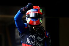SAO PAULO, BRAZIL - NOVEMBER 17: Second placed Pierre Gasly of France and Scuderia Toro Rosso celebrates in parc ferme during the F1 Grand Prix of Brazil at Autodromo Jose Carlos Pace on November 17, 2019 in Sao Paulo, Brazil. (Photo by Dan Istitene/Getty Images)