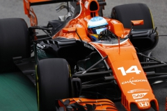 Interlagos, Sao Paulo, Brazil.Saturday 11 November 2017.Fernando Alonso, McLaren MCL32 Honda.Photo: Steven Tee/McLarenref: Digital Image _O3I1627