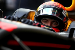 SAO PAULO, BRAZIL - NOVEMBER 11: Max Verstappen of Netherlands and Red Bull Racing prepares to drive in the garage during final practice for the Formula One Grand Prix of Brazil at Autodromo Jose Carlos Pace on November 11, 2017 in Sao Paulo, Brazil. (Photo by Dan Istitene/Getty Images) // Getty Images / Red Bull Content Pool // P-20171111-00768 // Usage for editorial use only // Please go to www.redbullcontentpool.com for further information. //