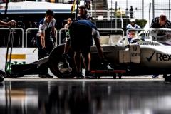 Interlagos, Sao Paulo, Brazil.Saturday 11 November 2017.Felipe Massa, Williams FW40 Mercedes, in the pit lane.Photo: Glenn Dunbar/Williamsref: Digital Image _31I2168