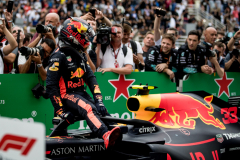 SAO PAULO, BRAZIL - NOVEMBER 11:  Second place finisher Max Verstappen of Netherlands and Red Bull Racing looks on in parc ferme during the Formula One Grand Prix of Brazil at Autodromo Jose Carlos Pace on November 11, 2018 in Sao Paulo, Brazil.  (Photo by Lars Baron/Getty Images) // Getty Images / Red Bull Content Pool  // AP-1XFZEUV9N2111 // Usage for editorial use only // Please go to www.redbullcontentpool.com for further information. //