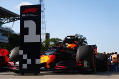 SAO PAULO, BRAZIL - NOVEMBER 16: The car of pole position qualifier Max Verstappen of Netherlands and Red Bull Racing is seen in parc ferme during qualifying for the F1 Grand Prix of Brazil at Autodromo Jose Carlos Pace on November 16, 2019 in Sao Paulo, Brazil. (Photo by Dan Istitene/Getty Images) // Getty Images / Red Bull Content Pool  // AP-2273GK9QH2111 // Usage for editorial use only //
