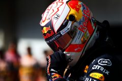 SAO PAULO, BRAZIL - NOVEMBER 16: Pole position qualifier Max Verstappen of Netherlands and Red Bull Racing celebrates in parc ferme during qualifying for the F1 Grand Prix of Brazil at Autodromo Jose Carlos Pace on November 16, 2019 in Sao Paulo, Brazil. (Photo by Dan Istitene/Getty Images) // Getty Images / Red Bull Content Pool  // AP-2273GKK4W2111 // Usage for editorial use only //