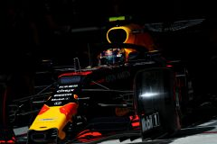SAO PAULO, BRAZIL - NOVEMBER 16: Alexander Albon of Thailand driving the (23) Aston Martin Red Bull Racing RB15 leaves the garage during qualifying for the F1 Grand Prix of Brazil at Autodromo Jose Carlos Pace on November 16, 2019 in Sao Paulo, Brazil. (Photo by Mark Thompson/Getty Images) // Getty Images / Red Bull Content Pool  // AP-22746ZGR11W11 // Usage for editorial use only //