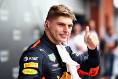SPA, BELGIUM - AUGUST 26:  Third place finisher Max Verstappen of Netherlands and Red Bull Racing celebrates in parc ferme during the Formula One Grand Prix of Belgium at Circuit de Spa-Francorchamps on August 26, 2018 in Spa, Belgium.  (Photo by Mark Thompson/Getty Images) // Getty Images / Red Bull Content Pool  // AP-1WQ5JSPTH1W11 // Usage for editorial use only // Please go to www.redbullcontentpool.com for further information. //