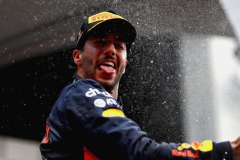 SPA, BELGIUM - AUGUST 27: Daniel Ricciardo of Australia and Red Bull Racing celebrates finishing in third place during the Formula One Grand Prix of Belgium at Circuit de Spa-Francorchamps on August 27, 2017 in Spa, Belgium. (Photo by Dan Istitene/Getty Images) // Getty Images / Red Bull Content Pool // P-20170827-10042 // Usage for editorial use only // Please go to www.redbullcontentpool.com for further information. //