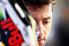 SPA, BELGIUM - AUGUST 24:  Daniel Ricciardo of Australia and Red Bull Racing prepares to drive in the garage during practice for the Formula One Grand Prix of Belgium at Circuit de Spa-Francorchamps on August 24, 2018 in Spa, Belgium.  (Photo by Mark Thompson/Getty Images) // Getty Images / Red Bull Content Pool  // AP-1WPFZXVJD1W11 // Usage for editorial use only // Please go to www.redbullcontentpool.com for further information. //