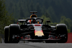 SPA, BELGIUM - AUGUST 24:  Daniel Ricciardo of Australia driving the (3) Aston Martin Red Bull Racing RB14 TAG Heuer on track during practice for the Formula One Grand Prix of Belgium at Circuit de Spa-Francorchamps on August 24, 2018 in Spa, Belgium.  (Photo by Charles Coates/Getty Images) // Getty Images / Red Bull Content Pool  // AP-1WPGVVF7W2111 // Usage for editorial use only // Please go to www.redbullcontentpool.com for further information. //