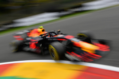 SPA, BELGIUM - AUGUST 24: Max Verstappen of the Netherlands driving the (33) Aston Martin Red Bull Racing RB14 TAG Heuer on track during practice for the Formula One Grand Prix of Belgium at Circuit de Spa-Francorchamps on August 24, 2018 in Spa, Belgium.  (Photo by Dan Mullan/Getty Images) // Getty Images / Red Bull Content Pool  // AP-1WPGCUGP51W11 // Usage for editorial use only // Please go to www.redbullcontentpool.com for further information. //