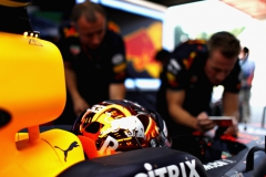 SPA, BELGIUM - AUGUST 25: Max Verstappen of Netherlands and Red Bull Racing prepares to drive in the garage during practice for the Formula One Grand Prix of Belgium at Circuit de Spa-Francorchamps on August 25, 2017 in Spa, Belgium. (Photo by Dan Istitene/Getty Images) // Getty Images / Red Bull Content Pool // P-20170825-00507 // Usage for editorial use only // Please go to www.redbullcontentpool.com for further information. //