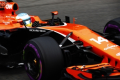 Spa Francorchamps, Belgium. Friday 25 August 2017.Fernando Alonso, McLaren MCL32 Honda.Photo: Sam Bloxham/McLarenref: Digital Image _J6I8014