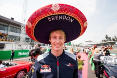 MEXICO CITY, MEXICO - OCTOBER 29: Brendon Hartley of Scuderia Toro Rosso and New Zealand during the Formula One Grand Prix of Mexico at Autodromo Hermanos Rodriguez on October 29, 2017 in Mexico City, Mexico. (Photo by Peter Fox/Getty Images) // Getty Images / Red Bull Content Pool // P-20171029-01356 // Usage for editorial use only // Please go to www.redbullcontentpool.com for further information. //