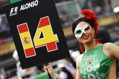 Autodromo Hermanos Rodriguez, Mexico City, Mexico.Sunday 29 October 2017.Grid Girl for Fernando Alonso, McLaren.Photo: Steven Tee/McLarenref: Digital Image _R3I5546