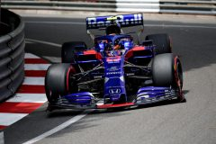 MONTE-CARLO, MONACO - MAY 25: Alexander Albon of Thailand driving the (23) Scuderia Toro Rosso STR14 Honda on track during final practice for the F1 Grand Prix of Monaco at Circuit de Monaco on May 25, 2019 in Monte-Carlo, Monaco. (Photo by Peter Fox/Getty Images) // Getty Images / Red Bull Content Pool  // AP-1ZEMZC16W2111 // Usage for editorial use only // Please go to www.redbullcontentpool.com for further information. //