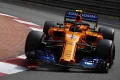 Monte Carlo, MonacoThursday 24 May 2018.Stoffel Vandoorne, McLaren MCL33 Renault.Photo: Andy Hone/McLarenref: Digital Image _ONZ6473