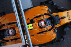 Monte Carlo, MonacoThursday 24 May 2018.Stoffel Vandoorne, McLaren MCL33 Renault, leaves the garage.Photo: Steven Tee/McLarenref: Digital Image _2ST4444