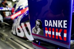 MONTE-CARLO, MONACO - MAY 22: A tribute to the late Niki Lauda is seen on the Scuderia Toro Rosso STR14 during previews for the F1 Grand Prix of Monaco at Circuit de Monaco on May 22, 2019 in Monte-Carlo, Monaco. (Photo by Peter Fox/Getty Images) // Getty Images / Red Bull Content Pool  // AP-1ZDR6V7352511 // Usage for editorial use only // Please go to www.redbullcontentpool.com for further information. //